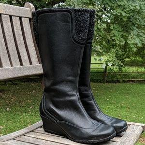 Merrell Larkspur Tall Black Leather Boots